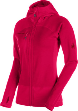 Bluza polarowa Mammut Aconcagua Pro ML Hooded Women magenta