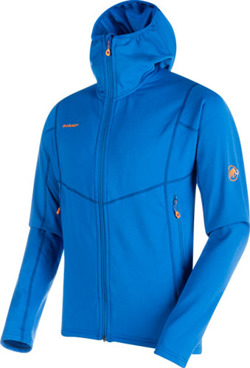 Bluza polarowa Mammut  Eiswand Advanced ML Hooded Men ice