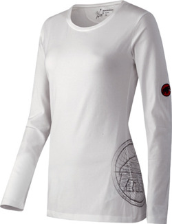 Bluza Mammut Longsleeve Map Women white