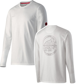 Bluza Mammut Map Longsleeve Men white
