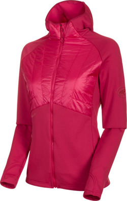 Bluza polarowa Mammut Aconcagua LIght Hybrid  ML Hooded Women dragon fruit